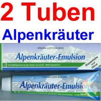 ( 33,75 EUR / 1Ltr.) LLOYD Alpenkräuter Emulsion 2 x 200 ml